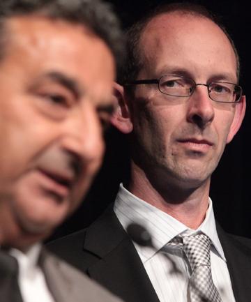 David Bain and lawyer Joe Karam at International Justice Confere
