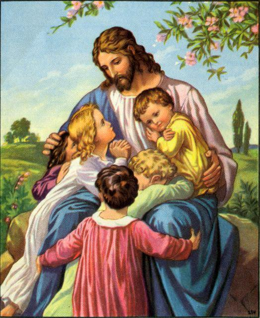 suffer the children to come unto me, for such is the kingdom of heaven.