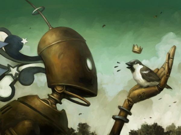 640x480_2966_The_Sparrow_King_2d_sci_fi_robot_steampunk_bird_picture_image_digital_art