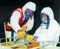 Staff at ESR model government issued protective clothing