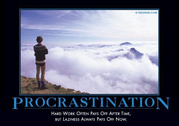 procrastinationdemotivator