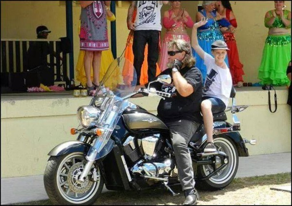 Scott was popular with the Biker fraternity