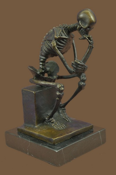 Rodin-s-Thinking-Man-The-Thinker-Skeleton-Skull-Bones-Statue-Sculpture-Art-Decor