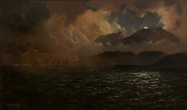 Kennett_Watkins_-_The_Phantom_Canoe-_A_Legend_of_Lake_Tarawera_-_Google_Art_Project