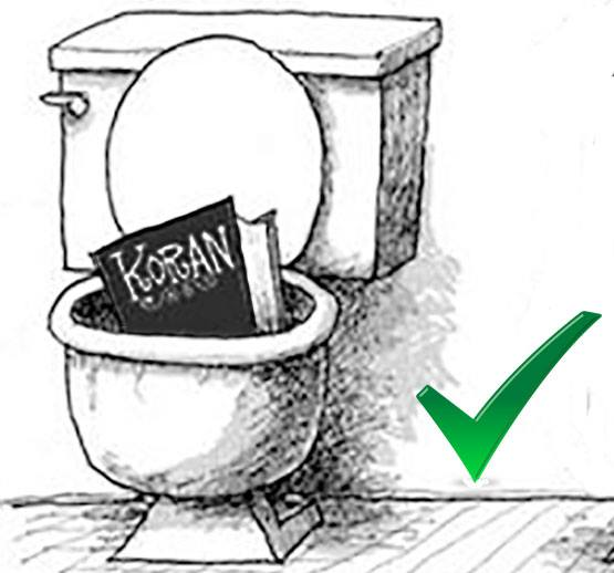toilet koran... not smart.