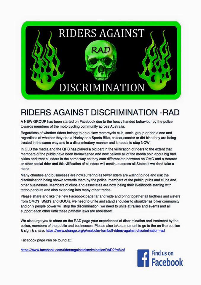 Riders against descrimination