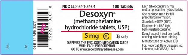 desoxyn_label
